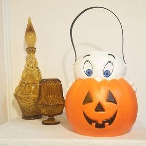 Vintage Casper Ghost Pumpkin Halloween Bucket